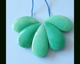 Beautiful Gemstone Chrysoprase Pendant Cluster Beads For Necklace,78 Cts