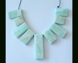 Natural Hemimorphite Pendant Beads,259.5 Cts