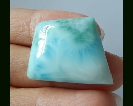 Natural Larimar Cabochon,Precious Gem Stone,39.5 Cts