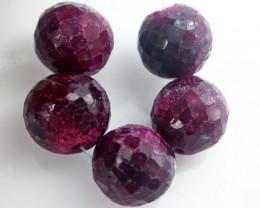 Parcel 5 Ruby Beads BU516
