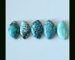 Thanksgiving Day  Holiday Gift,Sell 5 PCS Turquoise Freeform Cabochons For