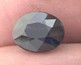 3.55ct  Lovely Dark Blue Sapphire, Great Luster, VVS, Africa, THV272