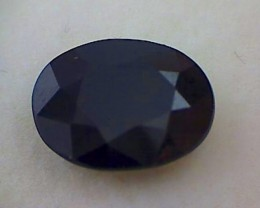 3.65ct  Lovely Dark Blue Sapphire, Great Luster, VVS, Africa, THV278
