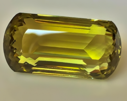 65.50ct MASTER-CUT GOLDEN GREEN QUARTZ - HIGHLY COLLECTIBLE