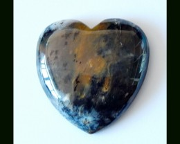 Heart Shaped Natural Dendritic Agate Cabochon,Wel Polished,141 Cts