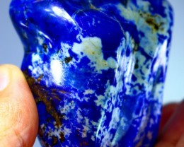 714.0CT Natural lapis lazuli carved tumble