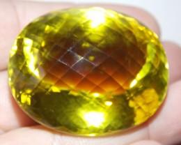 182.74ct HUGE Fancy Cut Golden Green Citrine