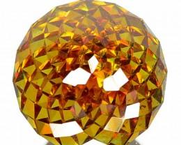 9.23 Cts Natural Sunset Orangish Yellow Multi Flash Sphalarite Markoh Cut S