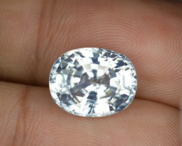 9.10 Cts Natural Gleaming Unheated White Zirocn Cushion Cut