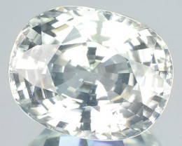 8.85 Cts Natural Gleaming Unheated White Zirocn Cushion Cut