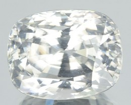 7.59 Cts Natural Gleaming Unheated White Zirocn Cushion Cut