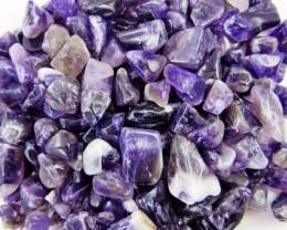 Parcel tumbled Amethyst stones  BU 613