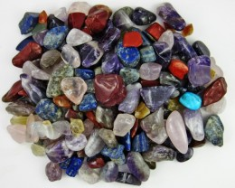 Parcel tumbled Mixed Gem stones  BU 614