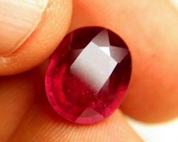 9.37 Carat Fiery Red Ruby - Superb