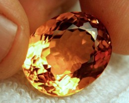 29.9 Carat 100% Natural Vibrant Orange VVS1 Madeira Citrine - Gorgeous