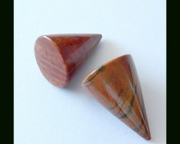 33cts Natural Picasso Jasper Pointed Pair,For Earring ,LOVE Pendants