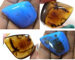 AMBER  INDONESIA  HONEY GOLD TO BLUE  47.20  CTS  TBG-2134
