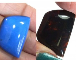 AMBER  INDONESIA  HONEY GOLD TO BLUE 12.45   CTS  TBG-2139