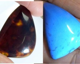 AMBER  INDONESIA  HONEY GOLD TO BLUE 13.60   CTS  TBG-2140
