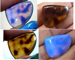 AMBER  INDONESIA  HONEY GOLD TO BLUE  8.90  CTS  TBG-2156