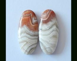 22 cts Laguna Agate Crazy Agate Gemstone Cabochons