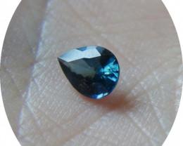 0.50 ct Eye Clean 100% Natural Blue Pear Sapphire