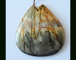 67 ct Natural Picasso Jasper Gemstone Pendant Bead
