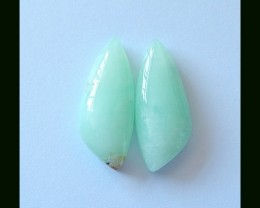 24.65 Ct Natural Chrysoprase Cabochon Pair