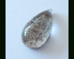 Natural Lodolite Quartz Gemstone Cabochon,21.5 CT