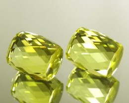 32.35 ~~ CTS VERY RARE!!!  ATTRACTIV GREEN GOLD CITRINE BRAZIL PAIR