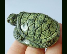 276.5 cts Serpentine Gemstone Turtle Carving(D0052)
