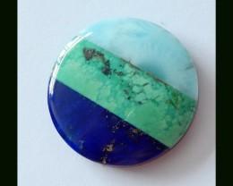 Intarsia Gemstone Larimar,Turquoise,Lapis Lazuli,Obsidian Intarsia