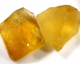 30 CTS A GRADE CITRINE ROUGH NATURAL PARCEL (2 PCS) RG-1401