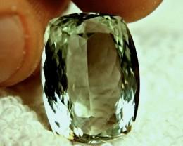 24.58 Carat VVS1 Praisiolite / Green Amethyst