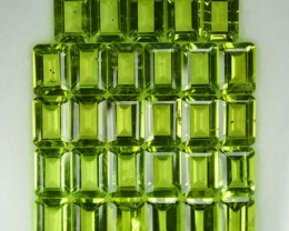 27.71 Cts Pakistan Green 29 Pcs 6x4 Octagon Calibrated Parcel NR