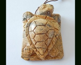 131ct Picture Jasper Gemstone Turtle Carvings