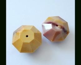 109 ct Faceted Gemstone Mookaite Jasper Beads(B1804347)