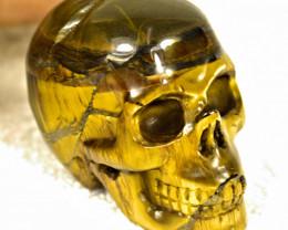 546.5 Carat China Tiger Eye Skull - Gorgeous