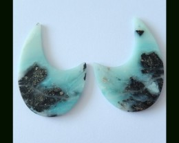 87 ct Amazonite Gemstone Cahnderlier Earring Beads(B1804387)