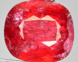 7.38 Cts Unheated Natural Blood Red Rhodonite Cushion 1$ NR