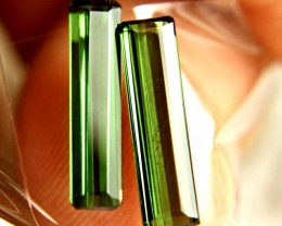 3.20 Carat VS Matched Green Tourmalines - Lovely