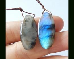 Natural Labradorite Earring Beads,26 ct