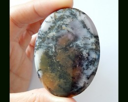 119 ct Natural Dendritic Agate Gemstone Oval Cabochon