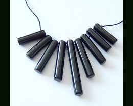 72 ct Natural Obsidian Beads Strands For Gemstone Necklace