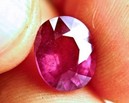 5.76 Carat Fiery Pink Ruby - Gorgeous
