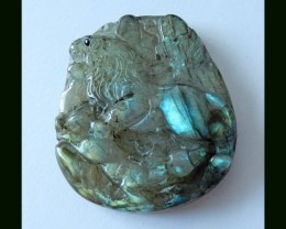 Labradorite Lion Gemstone Carving,106 ct