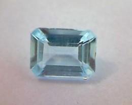 1.26ct Lovely !! Ice Blue Emerald Cut Aquamarine VVS -RI08