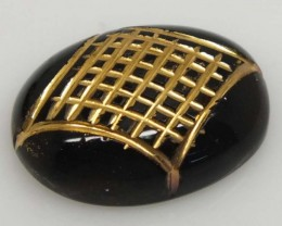 BLACK ONYX CARVING PAIR  16.40 CTS   TBG-2188