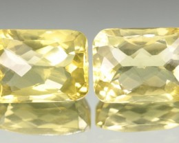 13.74 CT QUARTZ LEMON YELLOW PAIR - CALIBRATED!