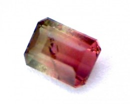 Gorgeous 1.05ct Radiant Bi-Color Tourmaline, Africa RS31/6